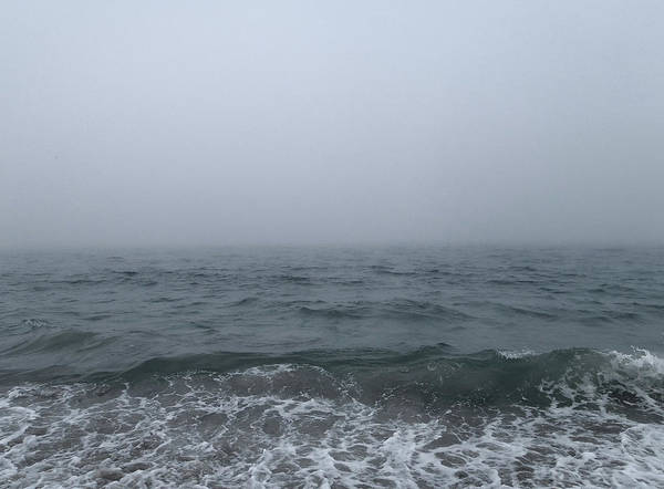 Photograph - A Very Foggy Day At The Beach by Mary Capriole