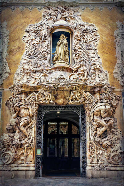 Wall Art - Photograph - A Very Ornate Doorway In Valencia Spain  by Carol Japp