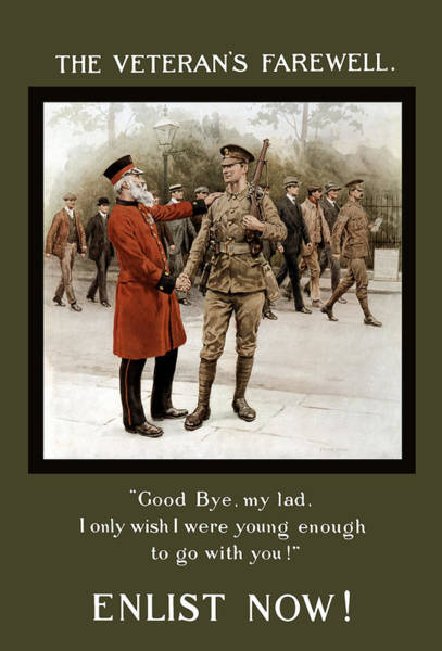 Wall Art - Painting - A Veteran's Farewell - Ww1 by War Is Hell Store