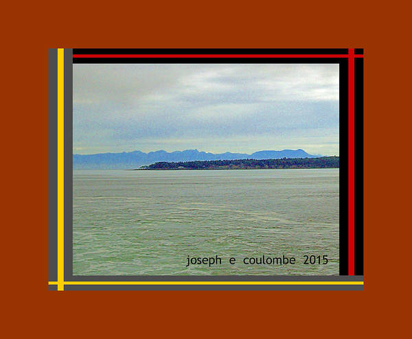 Digital Art - A Vi - Bc  Ferry View by Joseph Coulombe