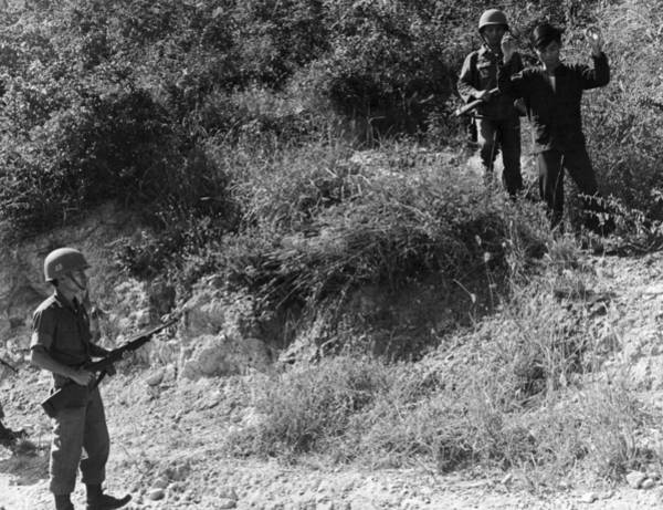 Photograph - A Viet Cong Surrenders by Underwood Archives