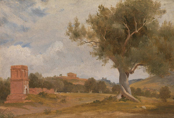 Sicily Painting - A View At Girgenti In Sicily With The Temple Of Concord And Juno by Charles Lock Eastlake