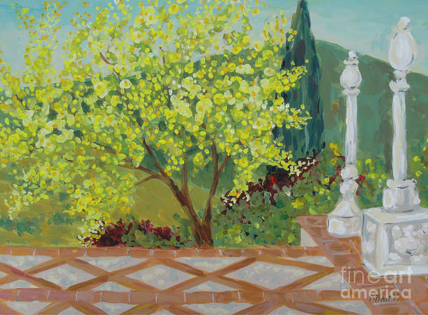 Painting - A View From Hearst Castle by Maria Langgle