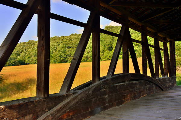 Photograph - A View From New Paris/cuppetts Covered Bridge by Lisa Wooten