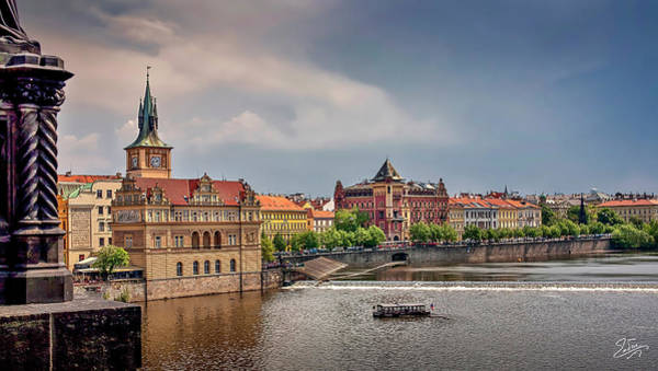Photograph - A View From The Charles Bridge In Prague by Endre Balogh