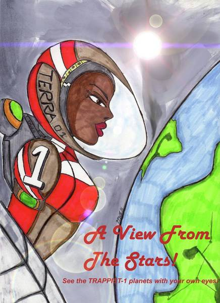 Space Exploration Mixed Media - A View From The Stars by Ronald Woods