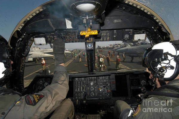 Flight Deck Photograph - A View From The Tactical Coordinators by Stocktrek Images