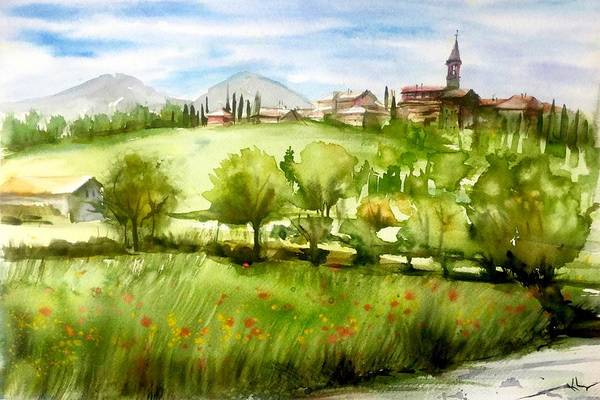 A View From Tuscany Art Print