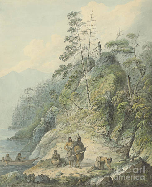 In Canada Painting - A View In Nootka Sound, 1784 by John Webber