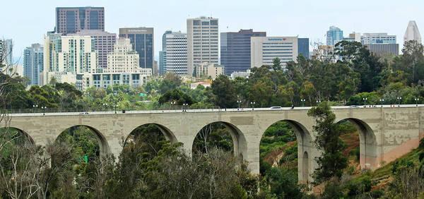 Cabrillo Photograph - A View Of Cabrillo Bridge And Downtown San Diego, California by Derrick Neill