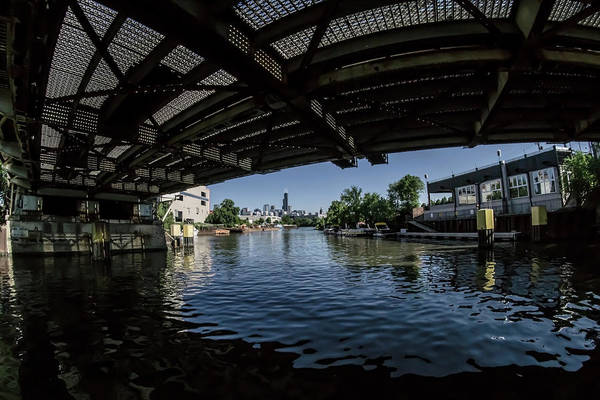 Photograph - A View Of Chicago From Under The Division Street Bridge by Sven Brogren