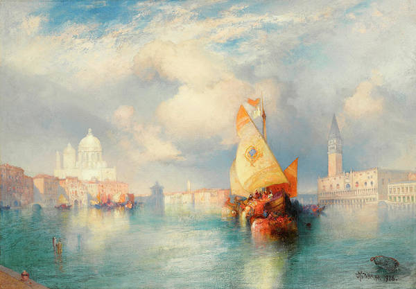 Wall Art - Painting - A View Of Doge's Palace by Thomas Moran