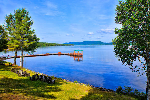 Chain Of Lakes Photograph - A View Of Fourth Lake From The Woods Inn by David Patterson