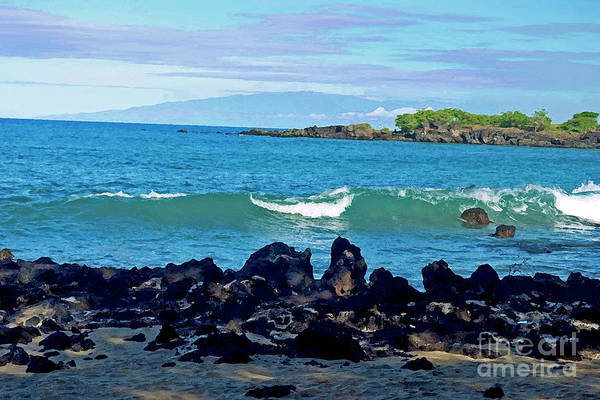 A View Of Maui From Wailea Bay Art Print