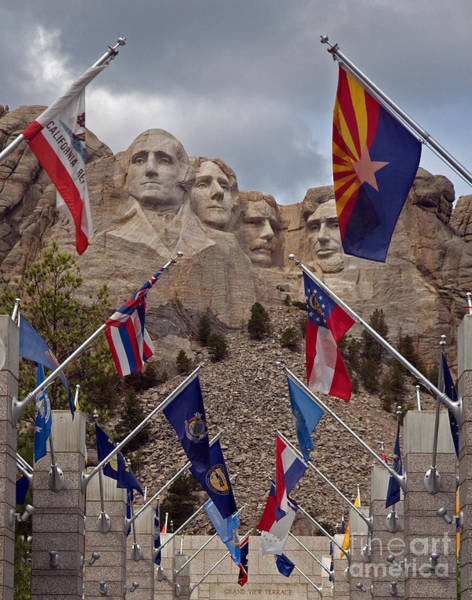 Wall Art - Photograph - A View Of Mt. Rushmore by Robert Pilkington