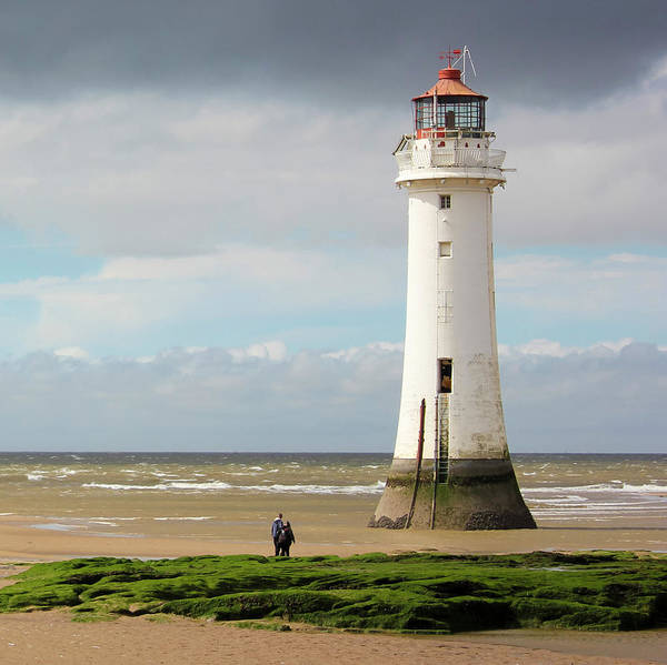 Taper Photograph - A View Of New Brighton, Or Perch Rock, Lighthouse by Derrick Neill