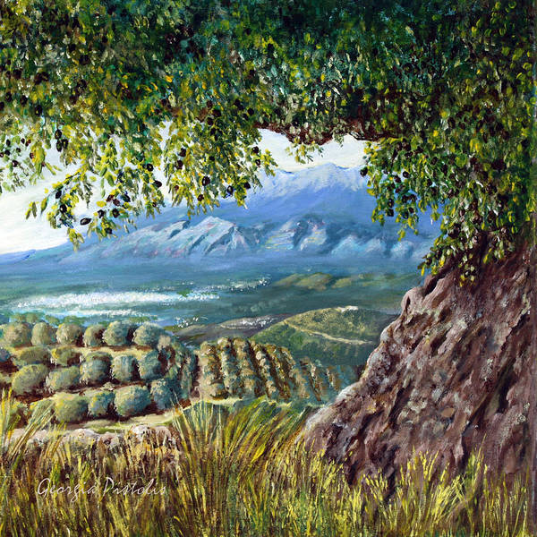 Peloponnese Painting - A View Of Sparta by Georgia Pistolis