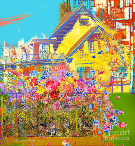 Digital Art - A View Of The City by Dorothy  Pugh