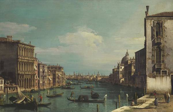 Wall Art - Painting - A View Of The Grand Canal Looking East by MotionAge Designs