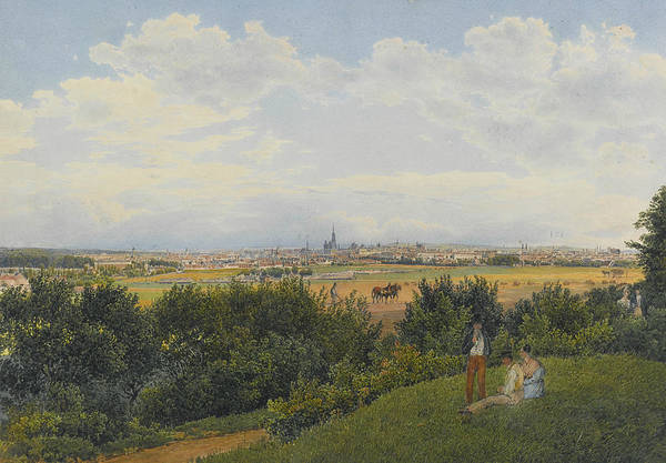 Painting - A View Of Vienna From The Prater With Figures In The Foreground by Rudolf von Alt