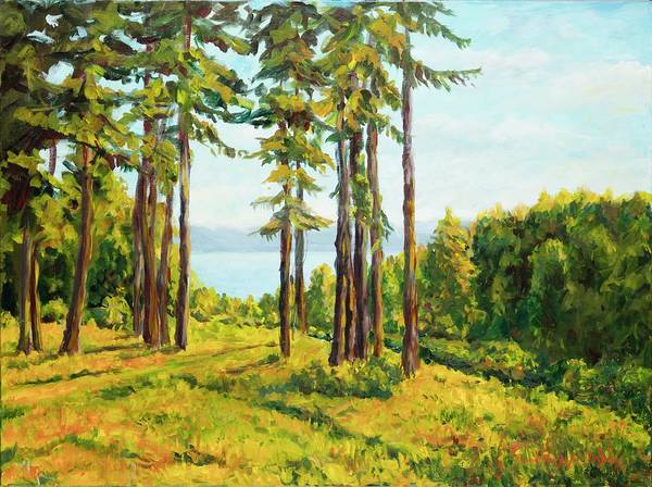 Painting - A View To The Lake by Ingrid Dohm