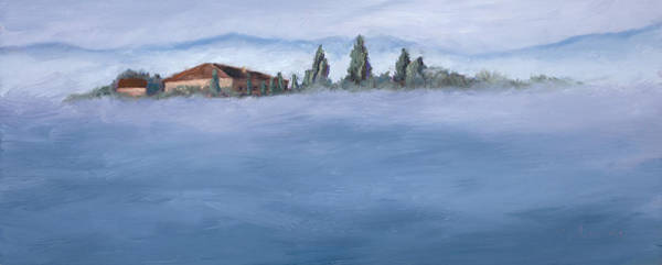 Painting - A Villa In The Mist by Mary Giacomini