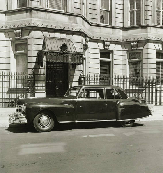 Vintage Car Photograph - A Vintage Lincoln Continental Coupe by Constantin Joffe