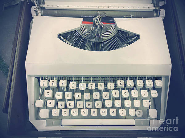 Wall Art - Photograph - A Vintage Typewriter by Tom Gowanlock