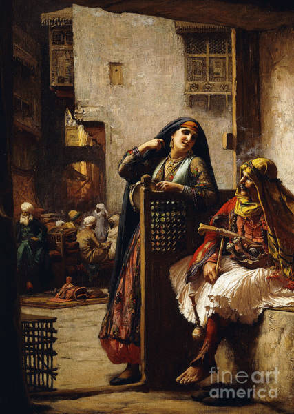 Wall Art - Painting - A Visit From The Chieftain by Frederick Arthur Bridgman