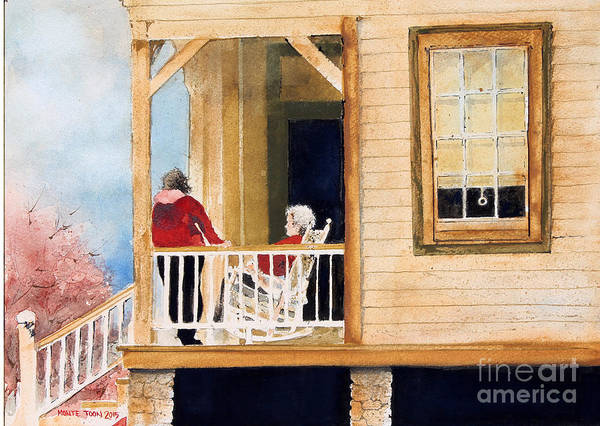 Painting - A Visit With Grandma by Monte Toon