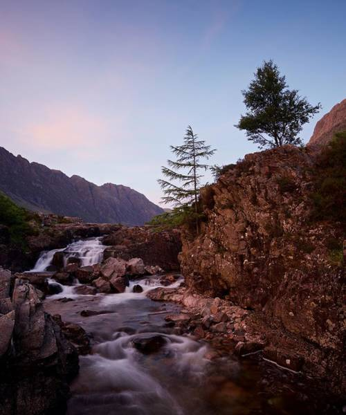 Photograph - A Vivid Sunset On The River Coe by Stephen Taylor