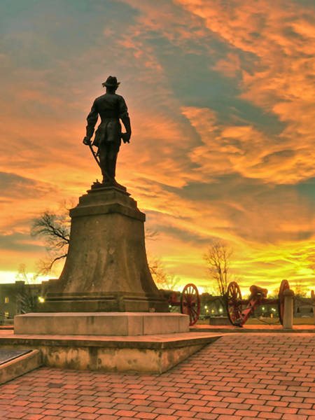 Photograph - A Vmi Sunset by Don Mercer