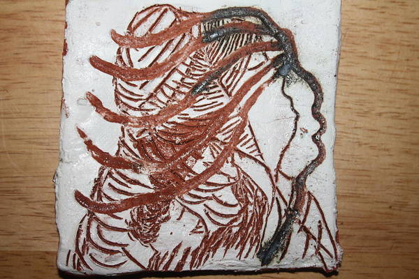 Ceramic Art - A Voice - Tile by Gloria Ssali
