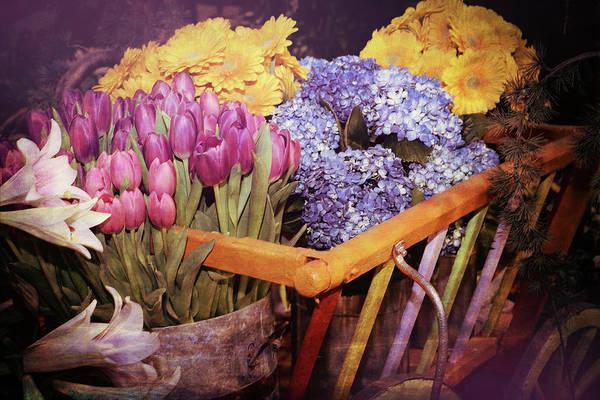 Wagon Digital Art - A Wagon Full Of Spring by Patrice Zinck