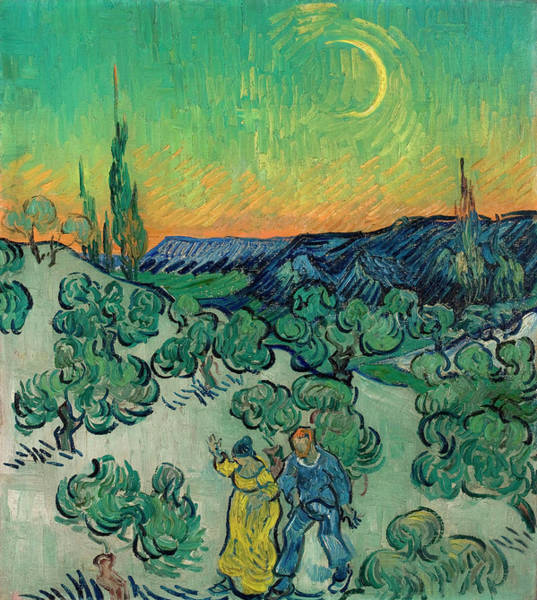 Plant Reproduction Painting - A Walk At Twilight by Vincent van Gogh