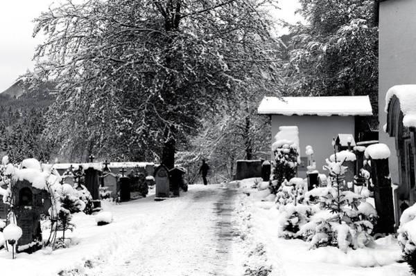 Photograph - A Walk In Berchtesgaden Cemetery by John Rizzuto