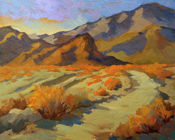 La Quinta Wall Art - Painting - A Walk In La Quinta Cove by Diane McClary