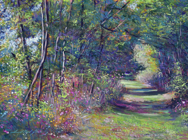 Wall Art - Painting - A Walk In The Forest by David Lloyd Glover