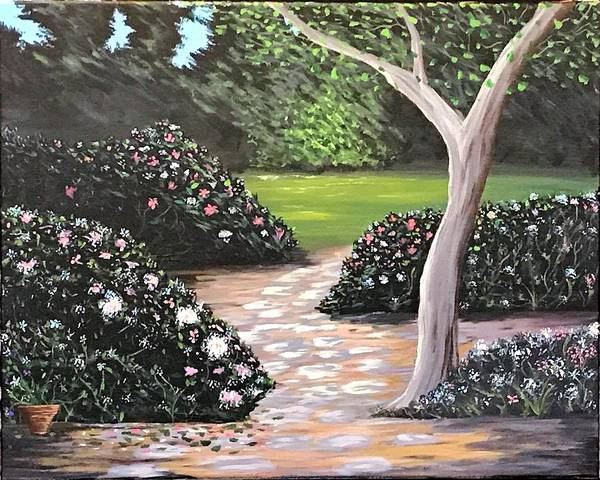 Wall Art - Painting - A Walk In The Garden by Willy Proctor