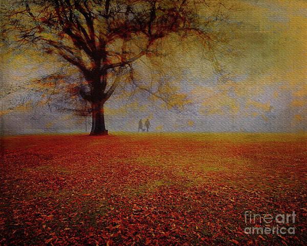 Digital Art - A Walk In The Park by Edmund Nagele