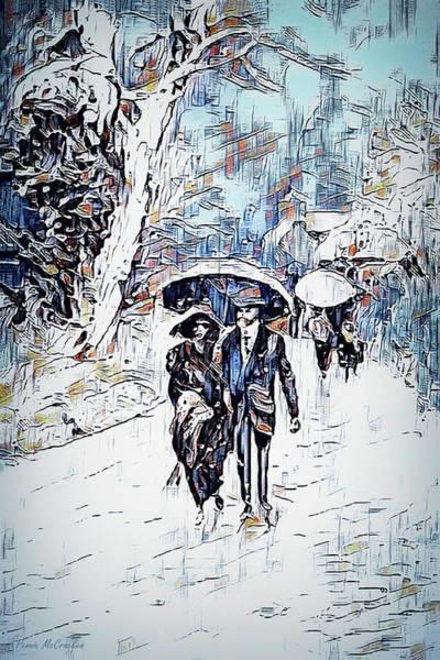 Digital Art - A Walk In The Park by Pennie McCracken