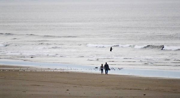 Oregon Coast Digital Art - A Walk On The Beach by Craig Perry-Ollila