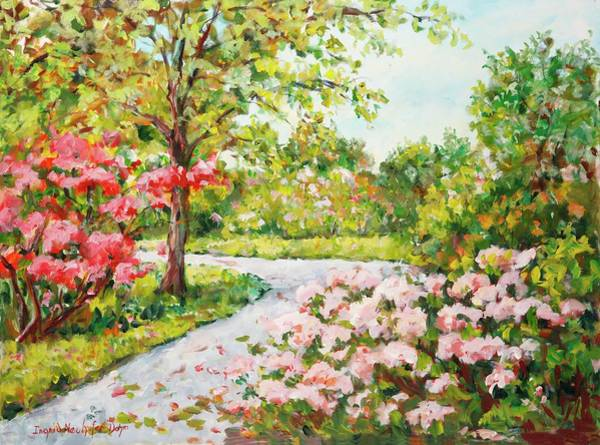 Painting - A Walk Through The Park by Ingrid Dohm