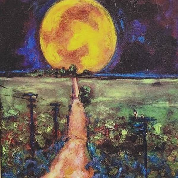 Painting - A Walk To The Moon by Dilip Sheth