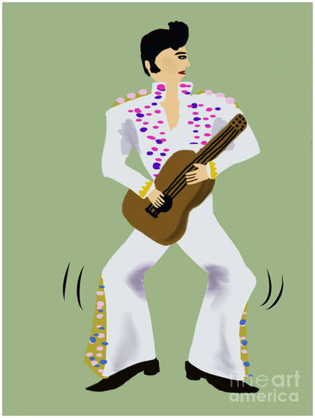 Painting - A Wanna Be Elvis by Barefoot Bodeez Art