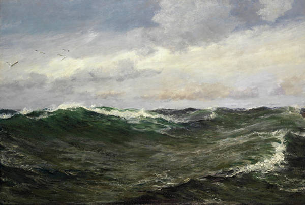 Bay Of Green Bay Wall Art - Painting - A Waste Of Waters by Charles Napier Hemy