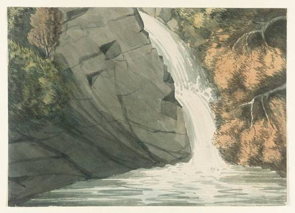 Romney Painting - A Waterfall by George Romney