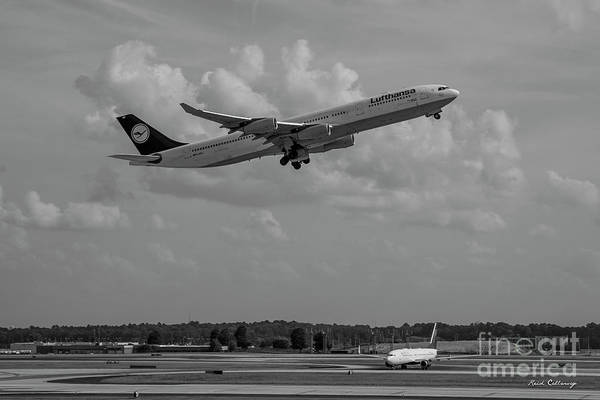 Photograph - The Way Out Of Town Lufthansa German Airlines Jet Art by Reid Callaway