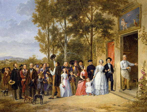 Country Wedding Painting - A Wedding At The Coeur Volant by French School