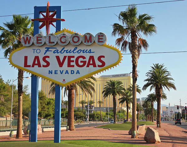 Wall Art - Photograph - A Welcome To Fabulous Las Vegas, Nevada by Derrick Neill